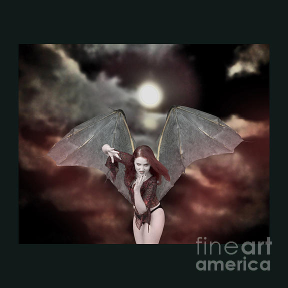 Red And Black Photograph - Bat-winged Beauty  by Andrew Govan Dantzler