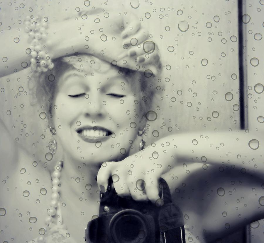 Self Portrait Photograph - Bath Mirror by Diana Angstadt