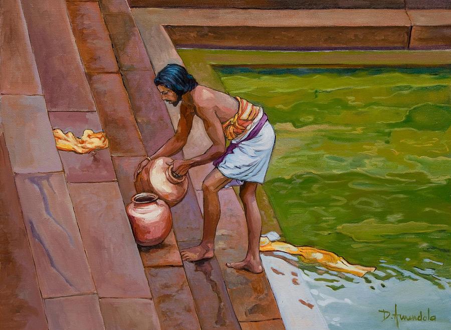 Bath Time In South India by Dominique Amendola