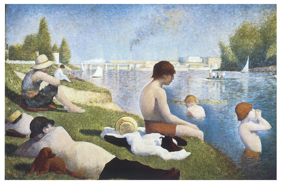 Seurat Painting - Bathing At Asnieres by George-Pierre Seurat