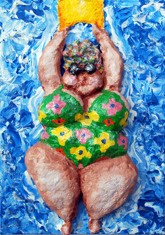 Swimming Relief - Bathing Beauty by Alison  Galvan