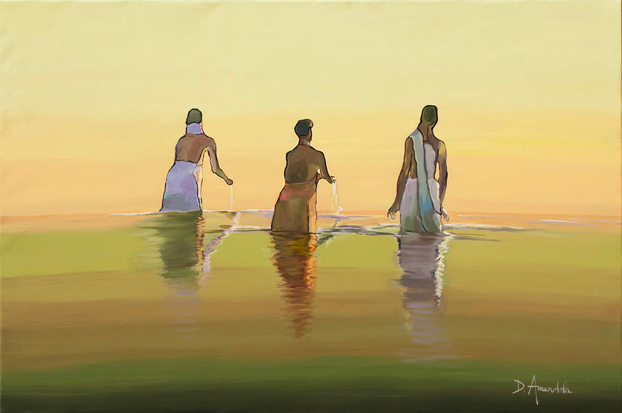 Bathing In The Holy River 3 by Dominique Amendola