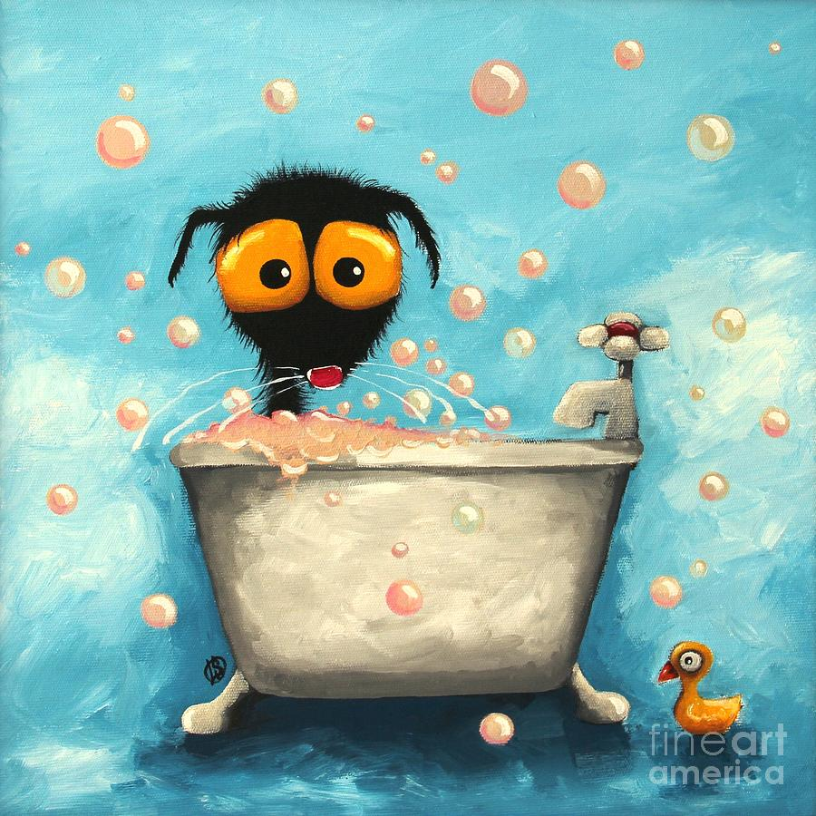 Bathtime Bubbles Painting By Lucia Stewart