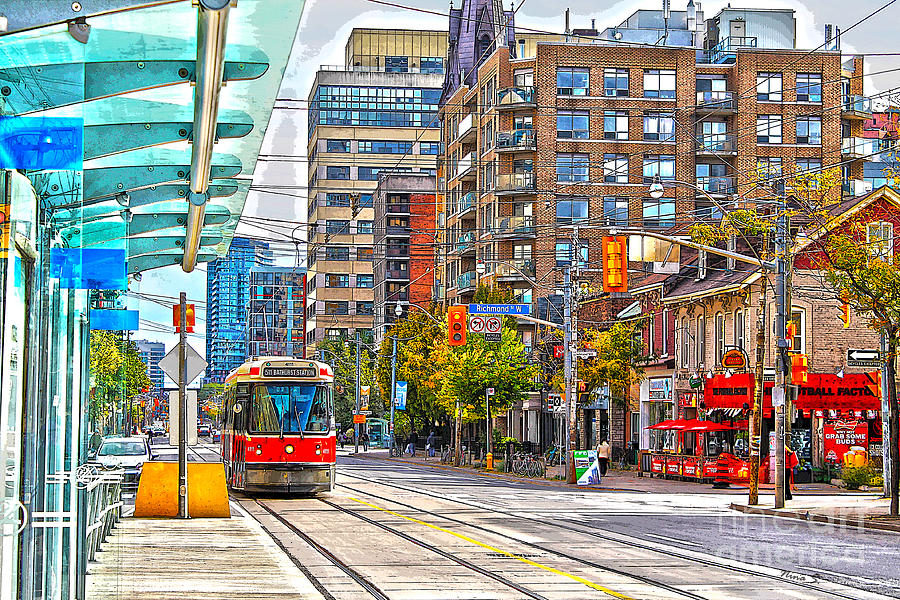 Toronto Photograph - Bathurst Street Car Coming North To Queen Street by Nina Silver