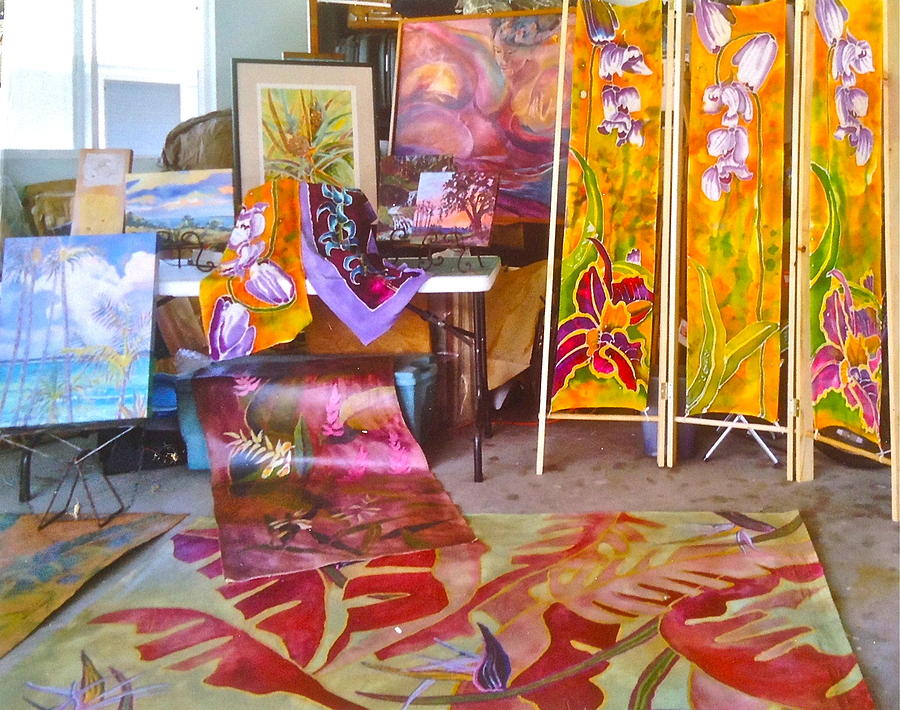 Tropical Tapestry - Textile - Batiks And Floor Coverings by Diane Renchler