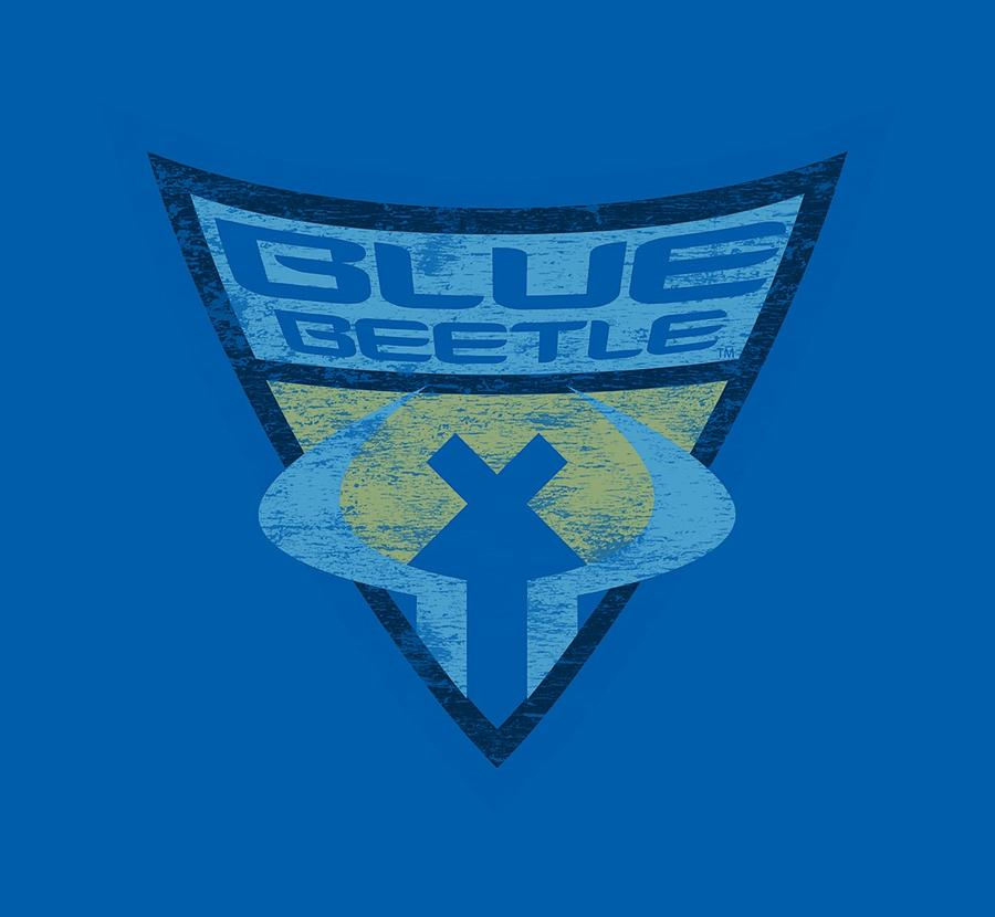 Batman Bb Blue Beetle Shield Digital Art By Brand A