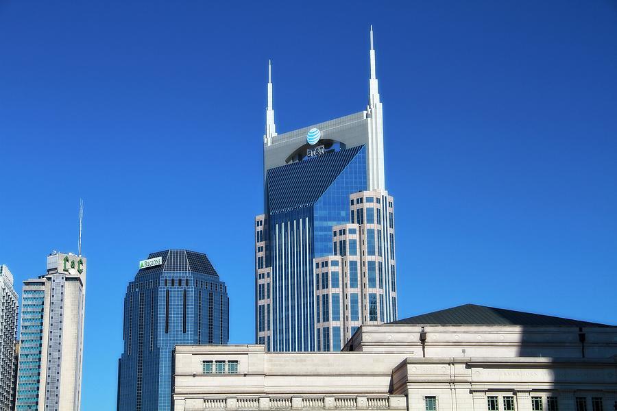 Batman Building Photograph - Batman Building And Nashville Skyline by Dan Sproul