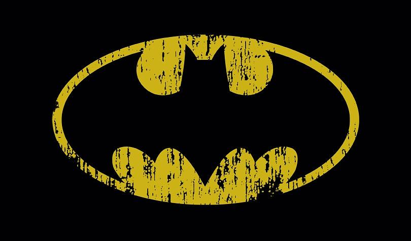 Batman Digital Art - Batman - Classic Logo Distressed by Brand A