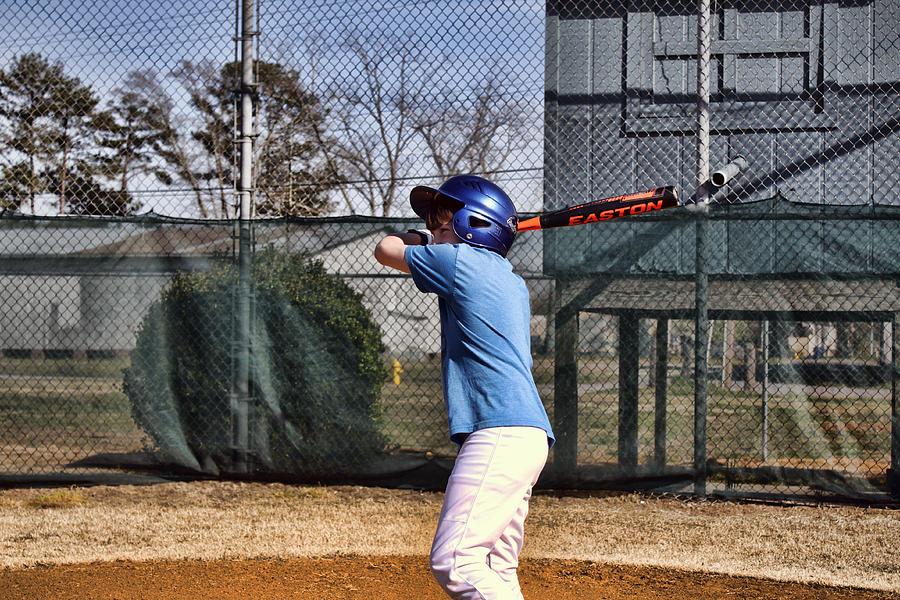 Baseball Photograph - Batter Up by Carolyn Ricks