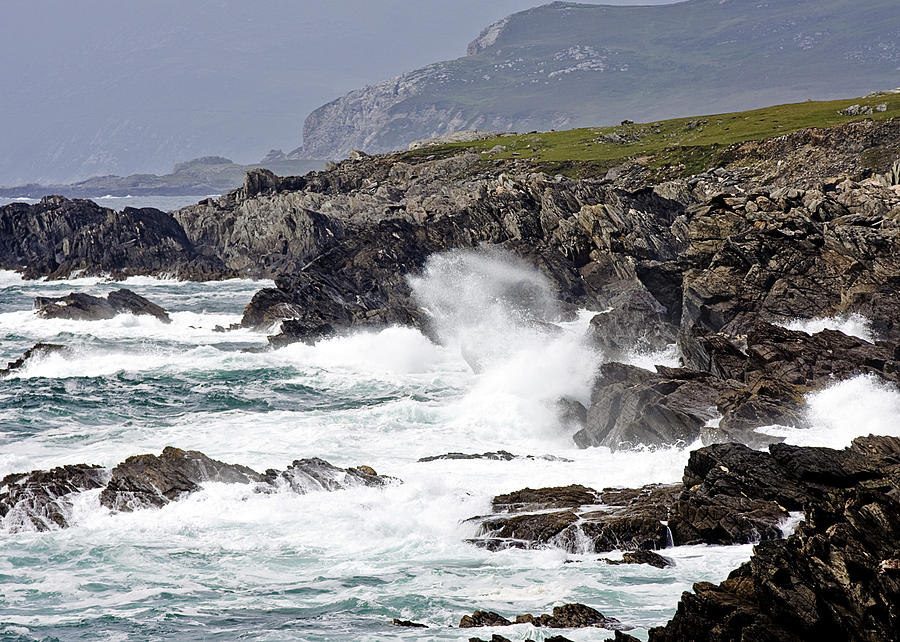 Mayo Photograph - Battered Coast by Tony Reddington