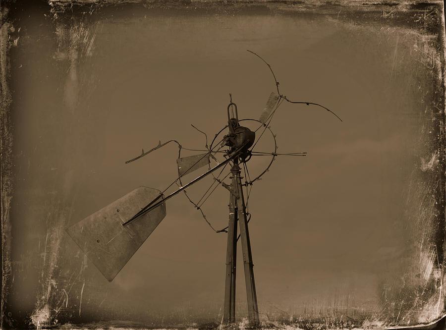 Windmill Photograph - Battered by Mikki Cromer