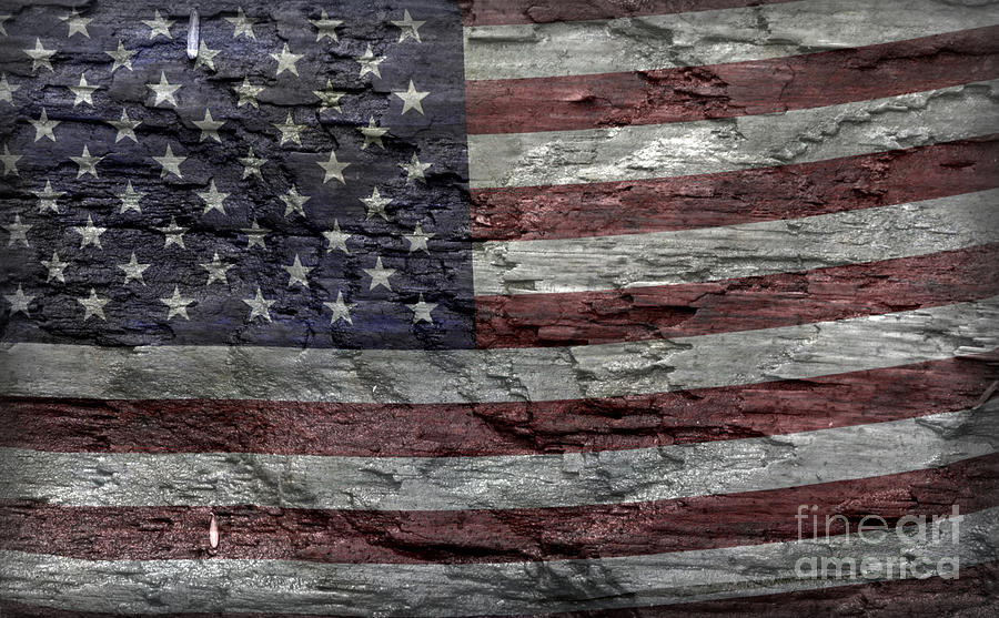 Usa Photograph - Battered Old Glory by John Stephens