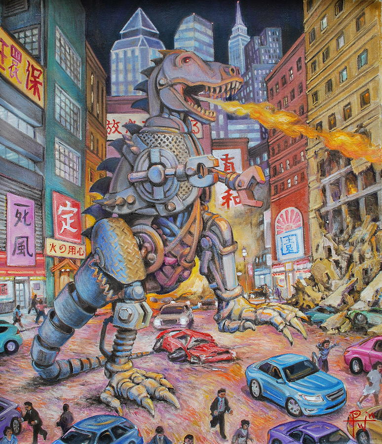 Painting Painting - Batteries Not Included by Henry David Potwin