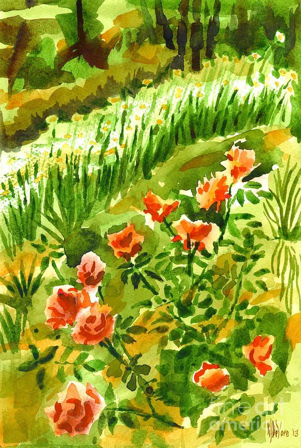Green Painting - Battle Array by Kip DeVore