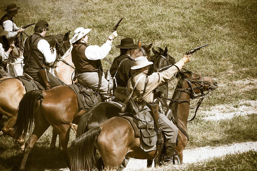 Horse Photograph - Battle Charge by Steven Bateson