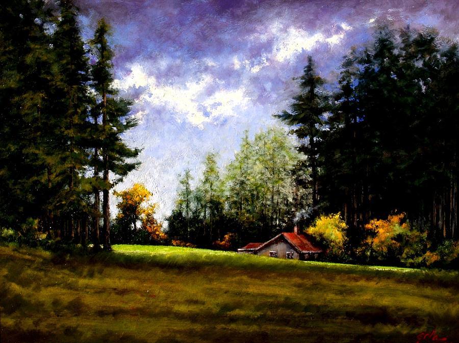 Landscape Painting - Battle Ground Park by Jim Gola