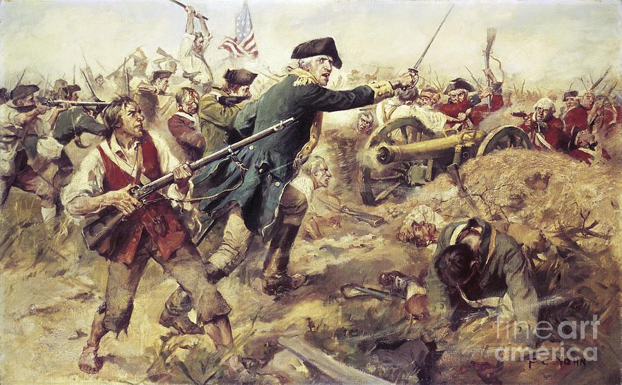 General John Stark Painting - Battle Of Bennington by Frederick Coffay Yohn