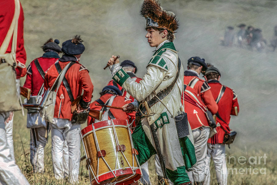 Battle Of Bradywine Drummer Digital Art by Randy Steele