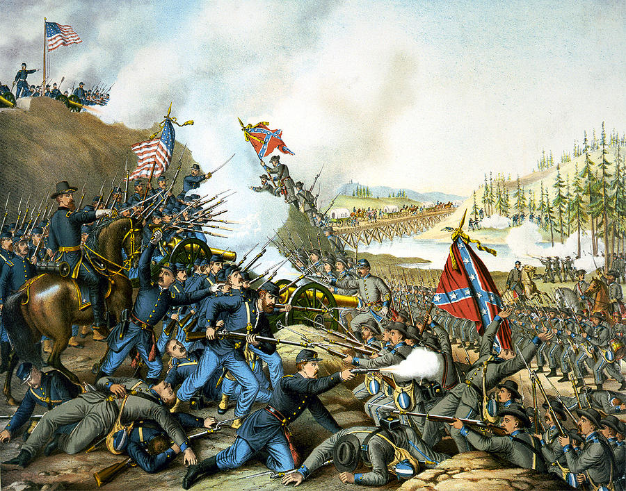 Franklin Tennessee Digital Art - Battle Of Franklin by Unknown