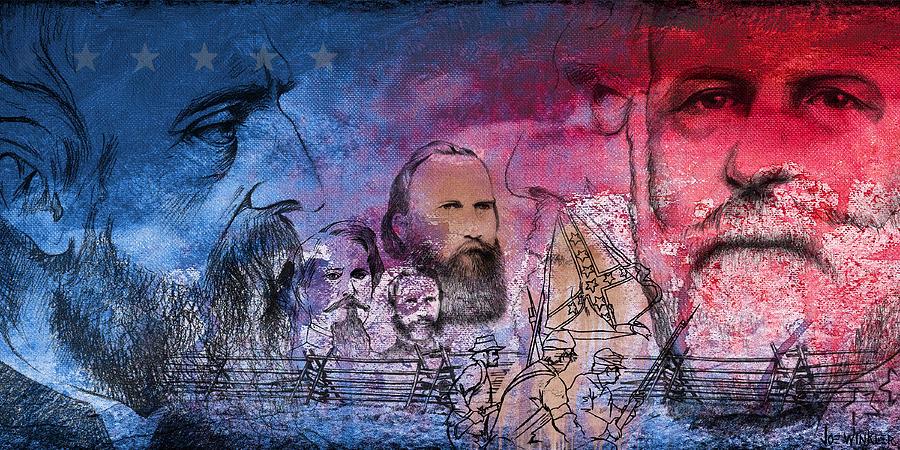 Gettysburg Painting - Battle Of Gettysburg Tribute Day One by Joe Winkler