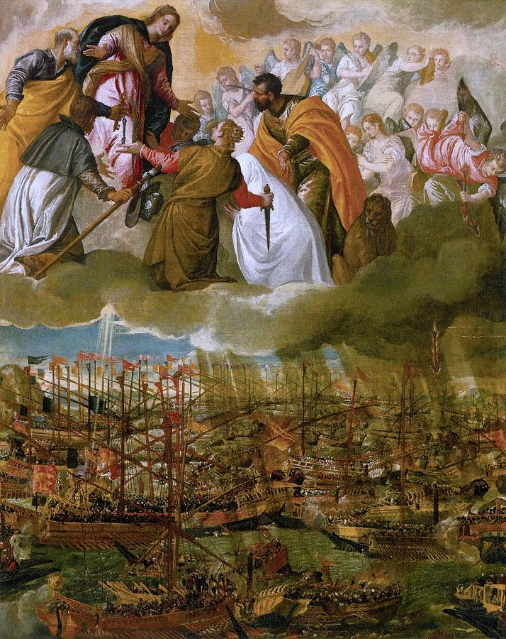 1572 Painting - Battle Of Lepanto by Paolo Veronese