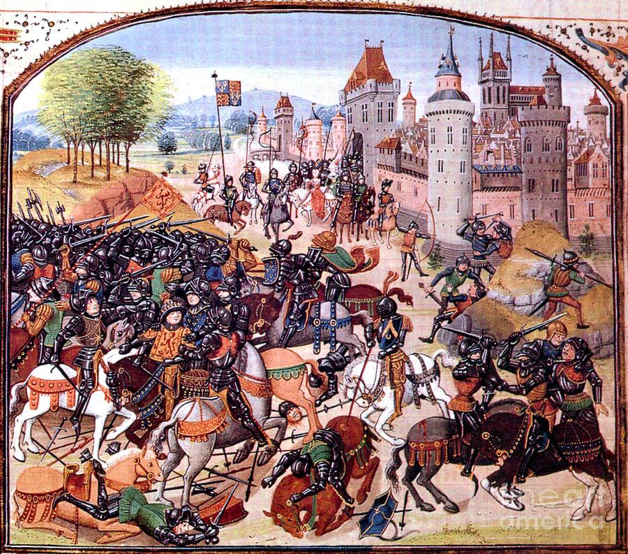 War Photograph - Battle Of Nevilles Cross 1346 by Photo Researchers