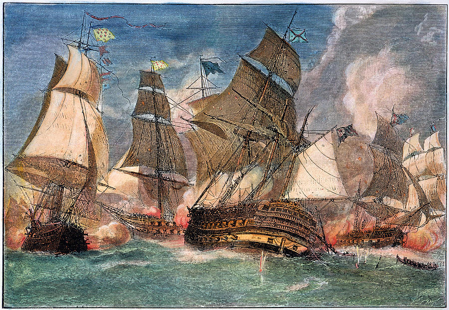 Battle Of Virginia Capes Photograph By Granger