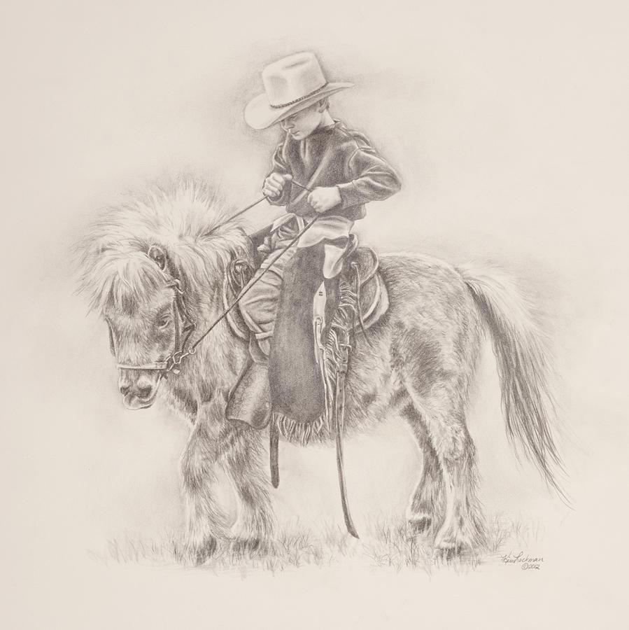 Children Drawing - Battle Of Wills by Kim Lockman