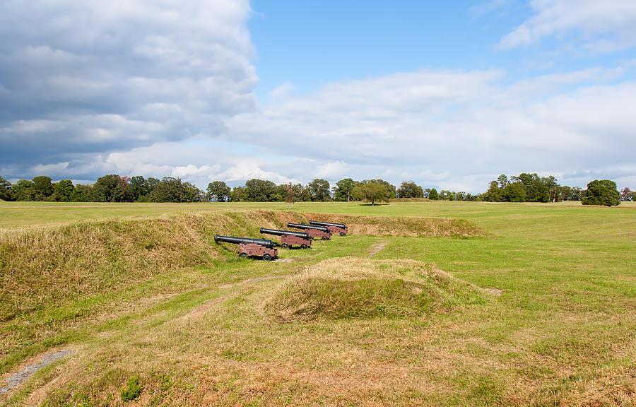 Sky Photograph - Battle Of Yorktown Battlefield by John M Bailey
