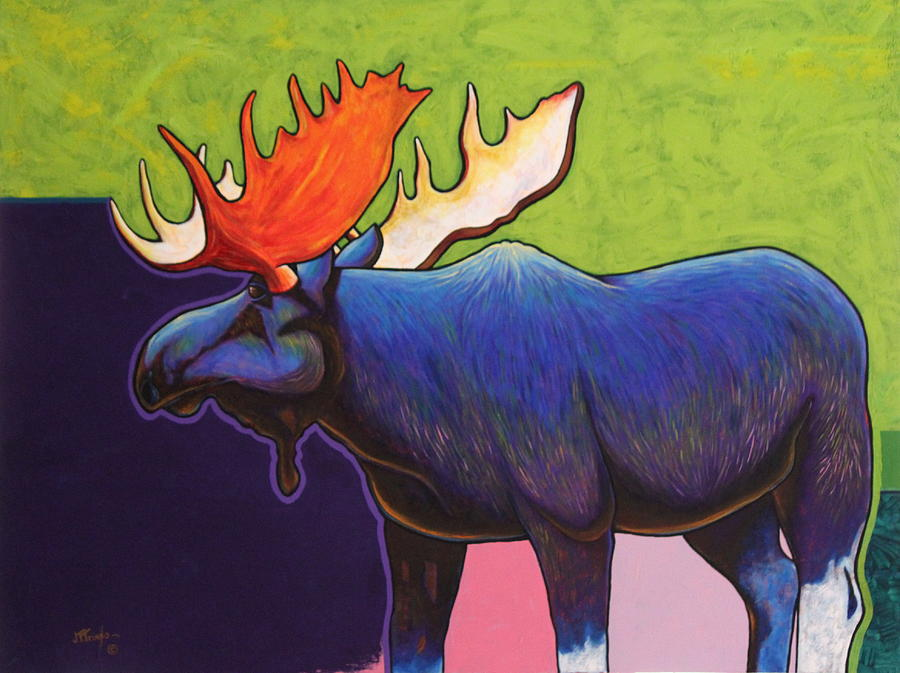 Wildlife Painting - Battle Tested Bull Moose by Joe  Triano