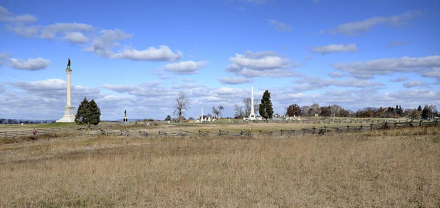 Gettysburg Photograph - Battlefield At Gettysburg National Military Park by Brendan Reals