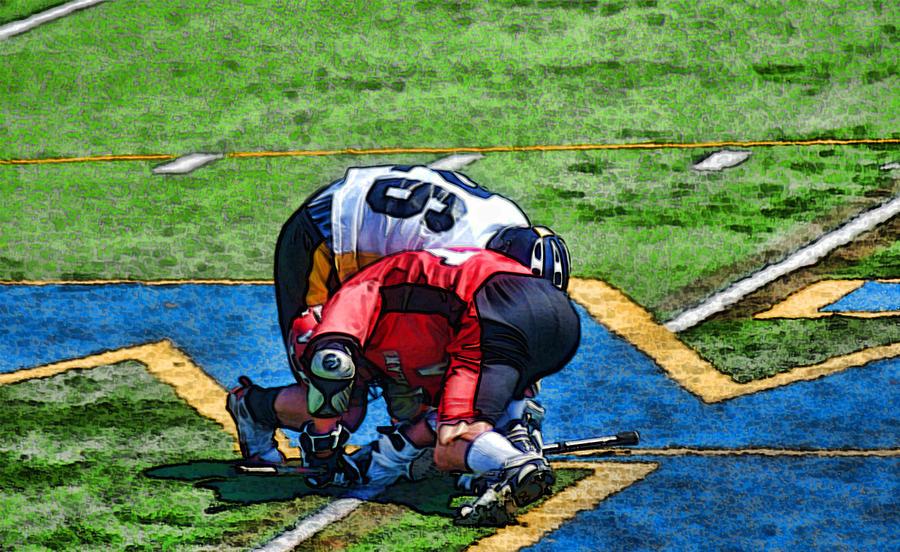 Lacrosse Photograph - Battling For The Ball by Joe Bledsoe