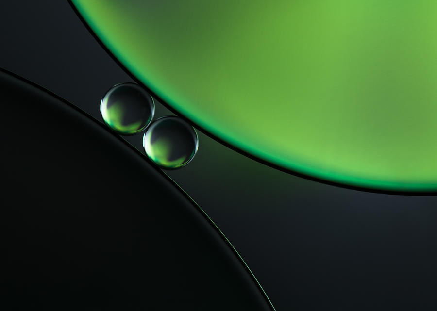 Green Photograph - Batwing Bubbles by Jacqueline Hammer