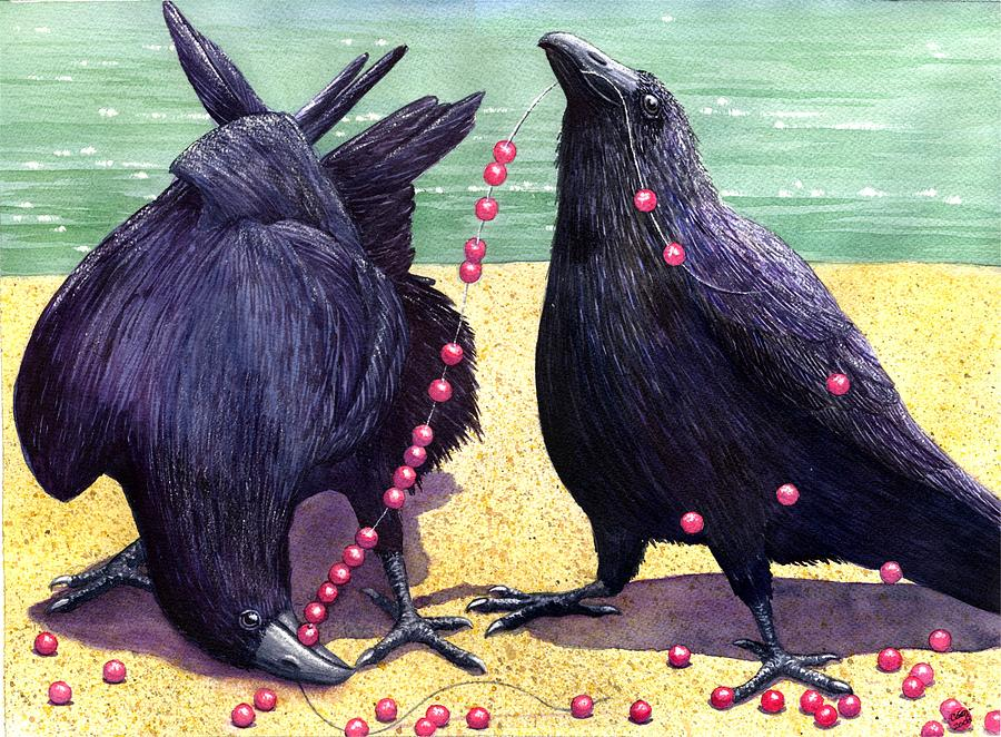 Raven Painting - Baubles by Catherine G McElroy