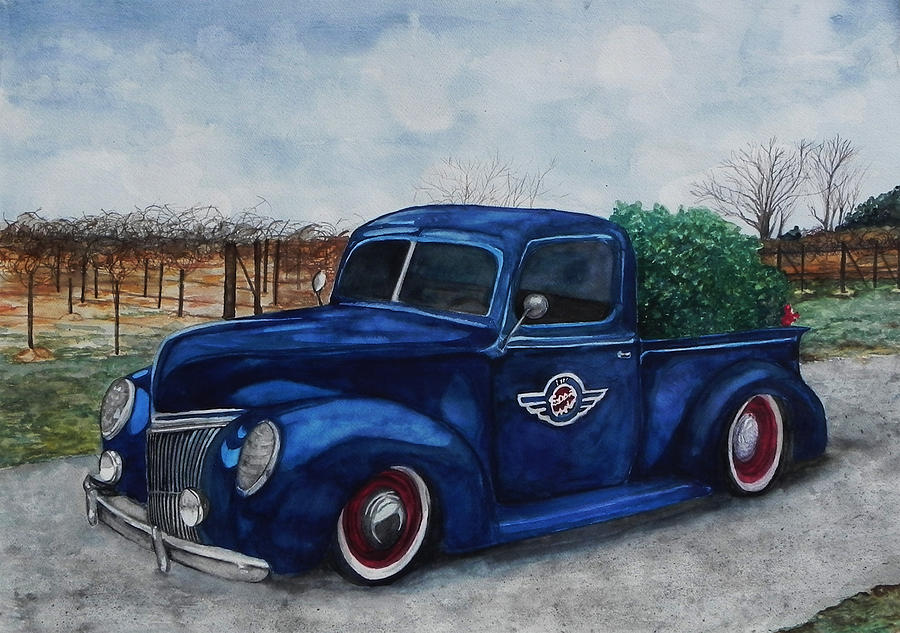 Truck Painting - Baxter Truck by Stacey Pilkington-Smith