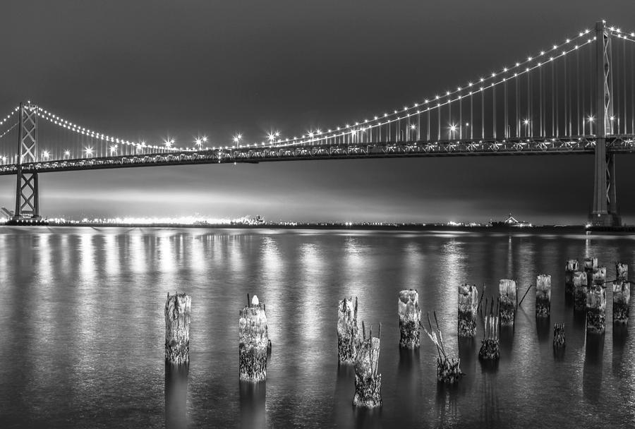 California Photograph - Bay Bridge Black and White by Robert  Aycock