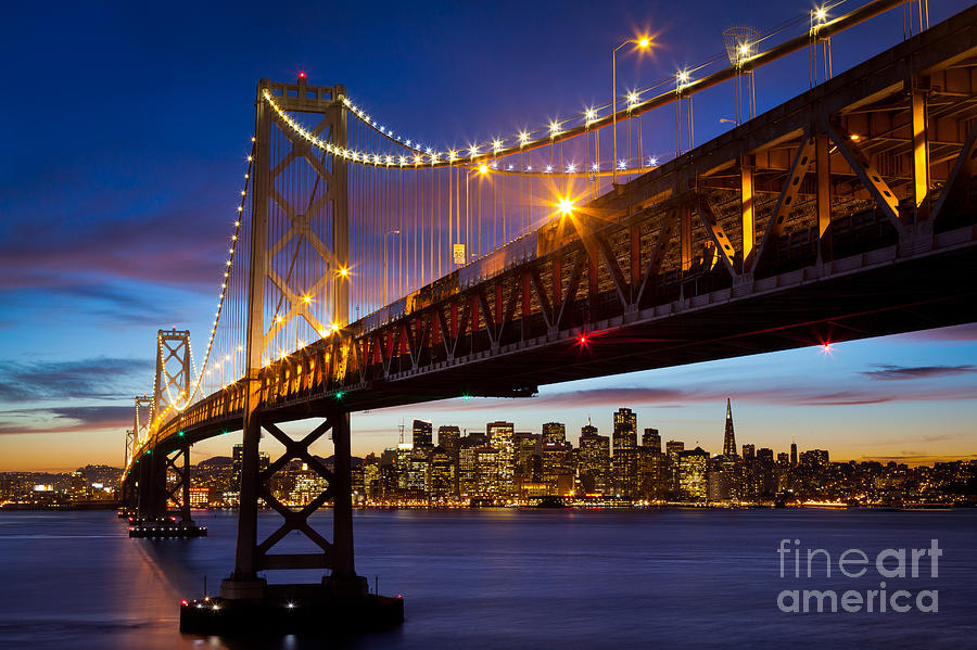 America Photograph - Bay Bridge by Inge Johnsson