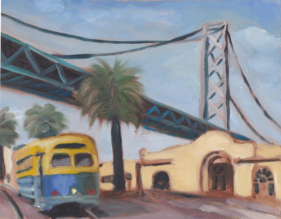 San Francisco Painting - Bay Bridge by James Lopez