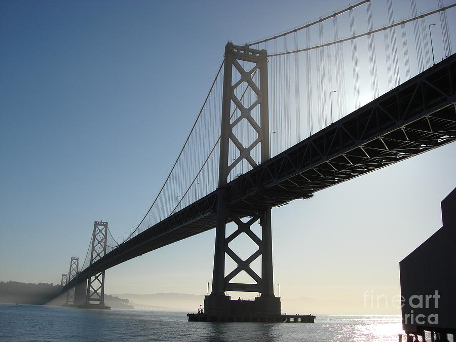 Bay Bridge Photograph - Bay Bridge Morning by Mark Etchason