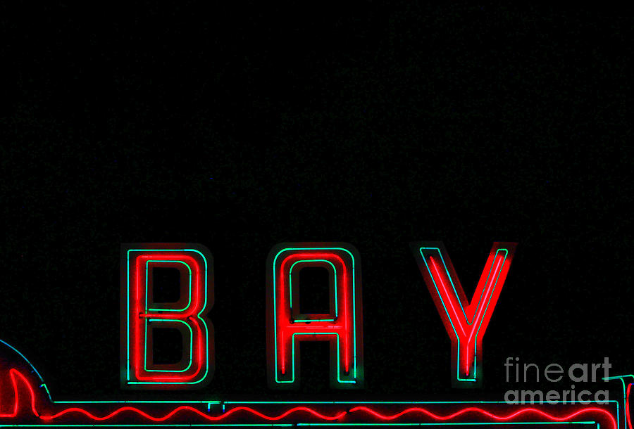 Theatre Photograph - Bay In Neon  by Kris Hiemstra