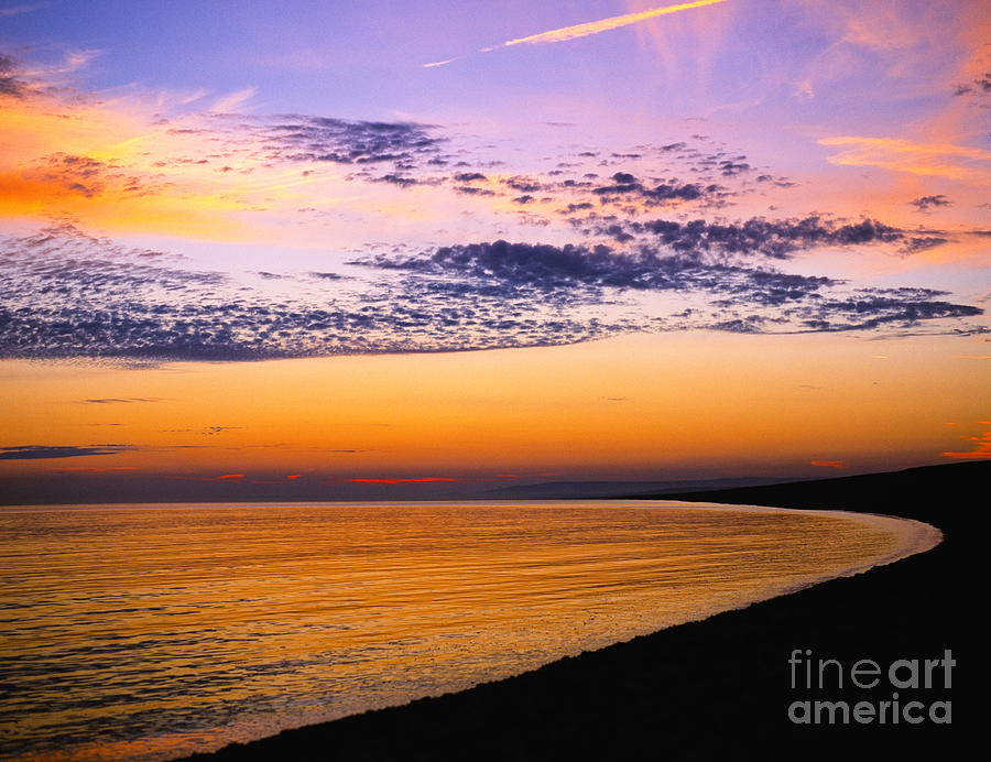 Dorset Photograph - Bay Sunset by Lana Enderle