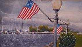 Harbor Painting - Bayfield On The 4th by Rick Huotari