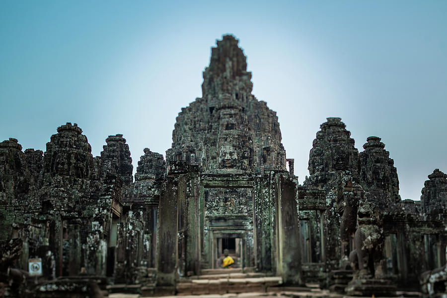 Bayon Temple And Buddhist Statue Photograph by © Francois Marclay