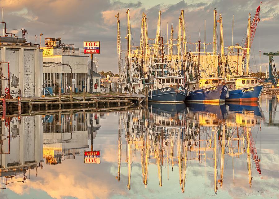 Alabama Photograph - Bayou La Batre Al Shrimp Boat Reflections 39 by Jay Blackburn