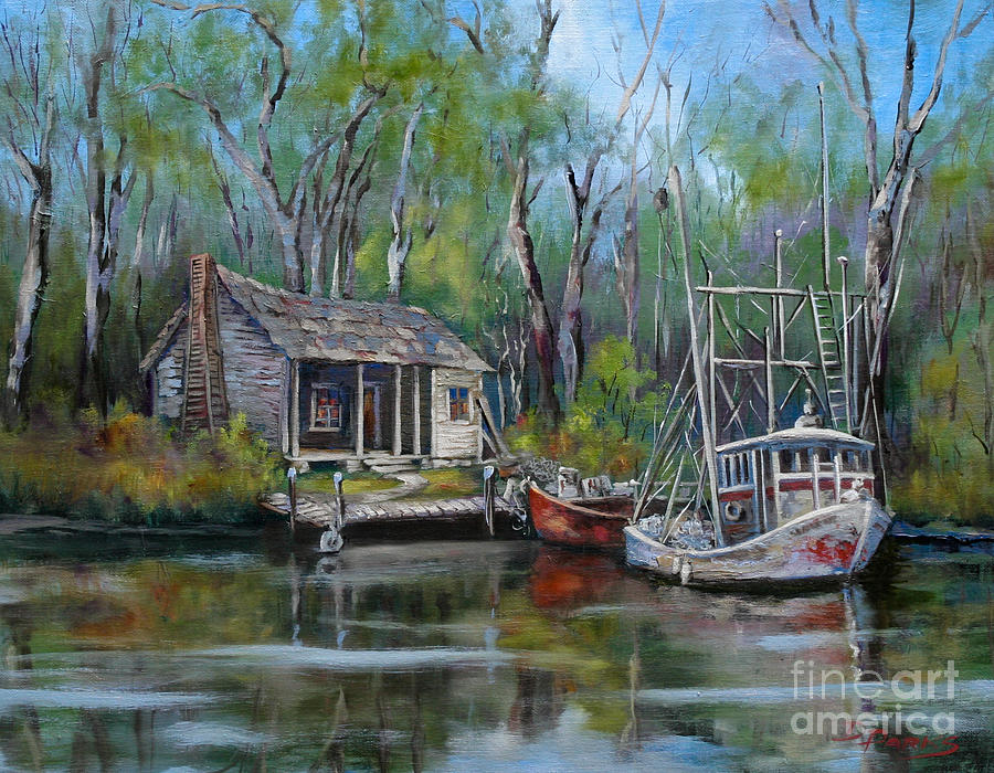 Bayou Shrimper Painting By Dianne Parks