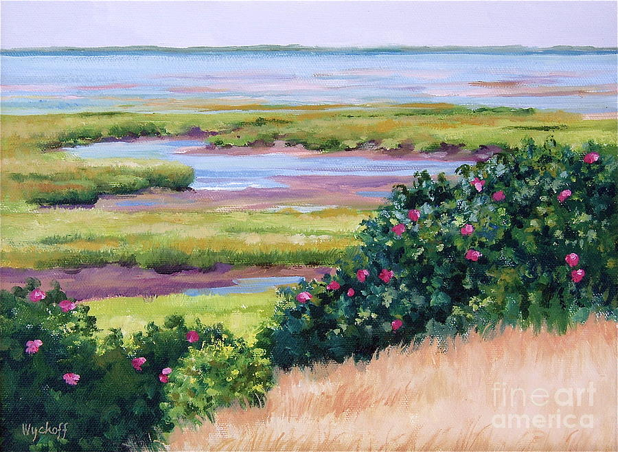Quiet Painting - Bayside Marsh by Karol Wyckoff