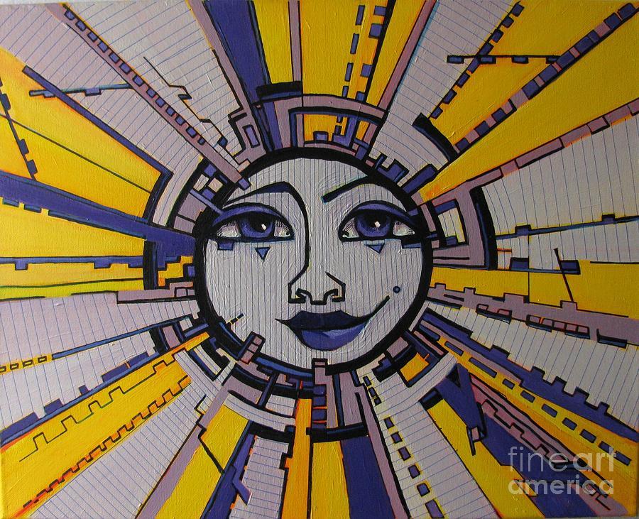 Sun Painting - Bazinga - Sun by Grace Liberator
