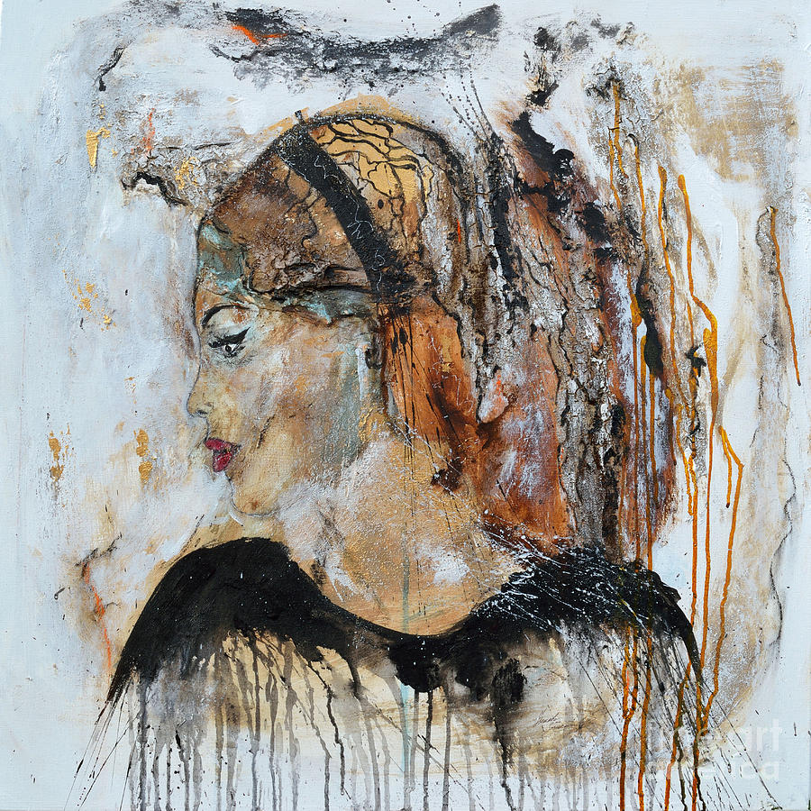 Abstract Art Painting - B.b. by Ismeta Gruenwald