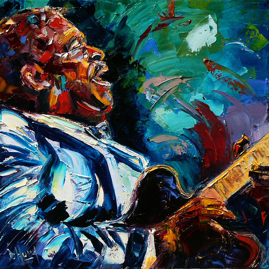 Musicians Painting - Bb King by Debra Hurd