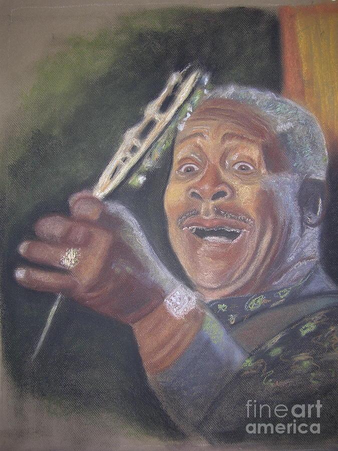 Blues Singer Pastel - B.B. King by JackieO Kelley